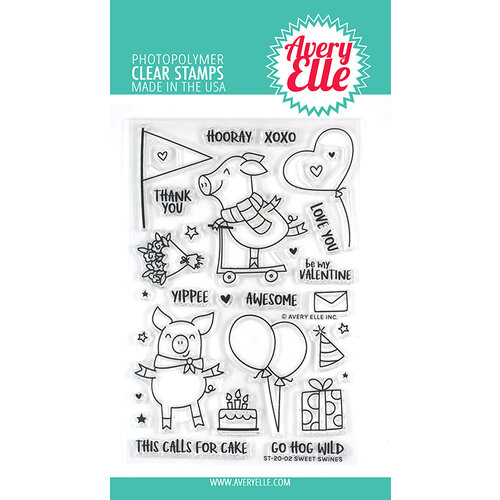 Avery Elle - Clear Photopolymer Stamps - Sweet Swines