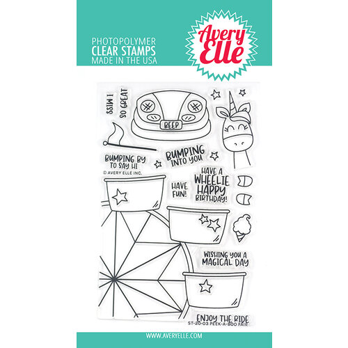Avery Elle - Clear Photopolymer Stamps - Peek-A-Boo Fair