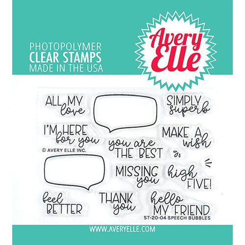 Avery Elle - Clear Photopolymer Stamps - Speech Bubbles