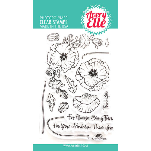 Avery Elle - Clear Photopolymer Stamps - Poppies