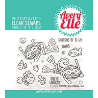 Avery Elle - Clear Photopolymer Stamps - Monkey Sea Monkey Do