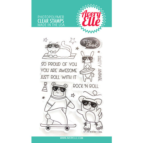 Avery Elle - Clear Photopolymer Stamps - Stay Cool