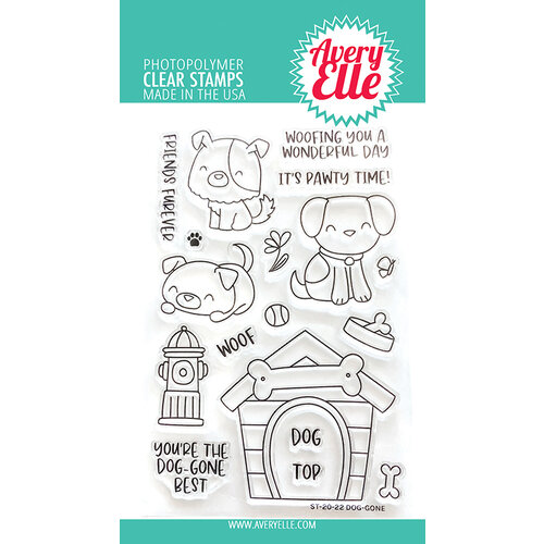 Avery Elle - Clear Photopolymer Stamps - Dog-Gone