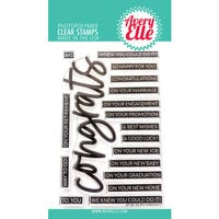 Avery Elle - Clear Photopolymer Stamps - Big Congrats