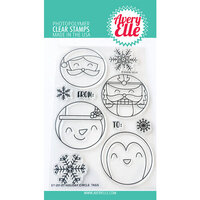 Avery Elle - Christmas - Clear Photopolymer Stamps - Holiday Circle Tags