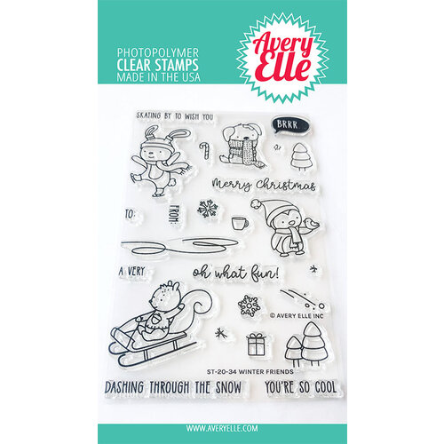 Avery Elle - Clear Photopolymer Stamps - Christmas - Winter Friends