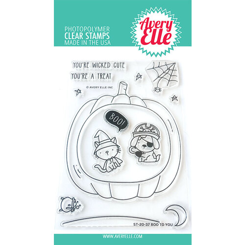 Avery Elle - Clear Photopolymer Stamps - Christmas - Boo To You