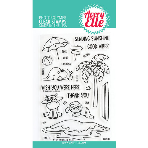 Avery Elle - Clear Photopolymer Stamps - Island Time