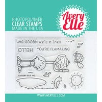 Avery Elle - Clear Photopolymer Stamps - Flamazing