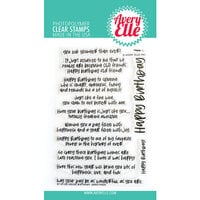 Avery Elle - Clear Photopolymer Stamps - Inside Birthday Greetings