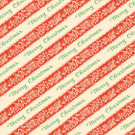 Anna Griffin - Twinkle Bright Collection - Christmas - 12 x 12 Paper - Red Merry Christmas