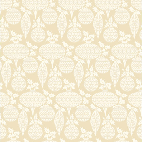 Anna Griffin - Twinkle Bright Collection - Christmas - 12 x 12 Paper - Cream Ornaments