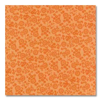 Anna Griffin - 12x12 Paper - MacKenzie Collection - Orange Bursts