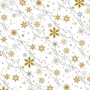 Anna Griffin - 12x12 Paper - Dorothy Collection - Christmas - Holiday - Winter - Snowflakes, CLEARANCE
