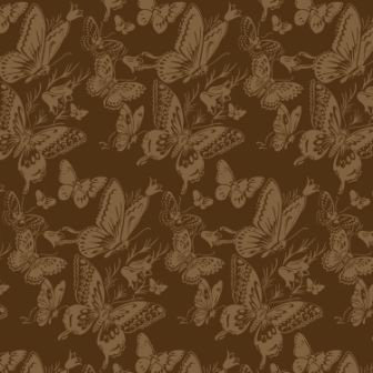 Anna Griffin - Flora Collection - 12 x 12 Flocked Paper - Flora Butterflies Brown