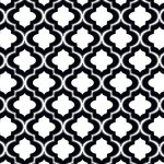 Anna Griffin - Darcey Collection - 12 x 12 Flocked Paper - Black Quarterfoil, CLEARANCE