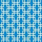 Anna Griffin - Darcey Collection - 12 x 12 Paper - Blue Ironwork