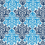 Anna Griffin - Darcey Collection - 12 x 12 Paper - Blue Damask, CLEARANCE