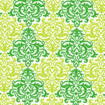 Anna Griffin - Darcey Collection - 12 x 12 Flocked Paper - Green Damask, BRAND NEW