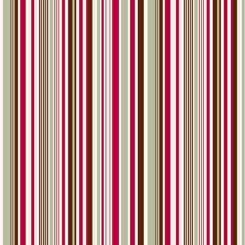 Anna Griffin - The Flora Christmas Collection - 12 x 12 Paper - Vertical Stripe, BRAND NEW