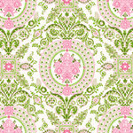 Anna Griffin - Isabelle Collection - 12 x 12 Paper - Pink and Green Medal