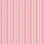 Anna Griffin - Isabelle Collection - 12 x 12 Paper - Pink Stripe, CLEARANCE
