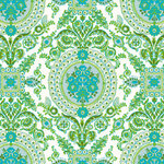 Anna Griffin - Isabelle Collection - 12 x 12 Paper - Blue and Green Medal