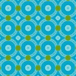 Anna Griffin - Isabelle Collection - 12 x 12 Glittered Paper - Blue Circle