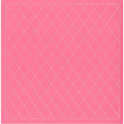 Anna Griffin - Isabelle Collection - 12 x 12 Stitched Cardstock - Pink