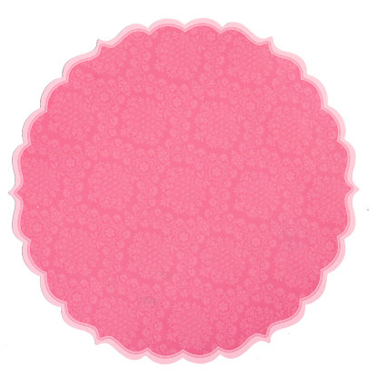 Anna Griffin - Isabelle Collection - 12 x 12 Die Cut Paper - Pink, CLEARANCE