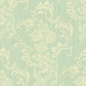 Anna Griffin - Cecile Collection - 12 x 12 Flocked Paper - Green Striae, CLEARANCE
