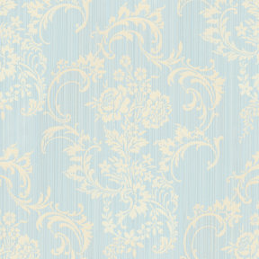 Anna Griffin - Cecile Collection - 12 x 12 Flocked Paper - Blue Striae, CLEARANCE