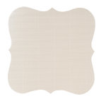 Anna Griffin - Cecile Collection - 12 x 12 Corrugated Die Cut Paper - Silver, CLEARANCE