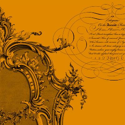 Anna Griffin - Esmerelda Collection - Halloween - 12 x 12 Paper - Orange Flourish Frame, CLEARANCE