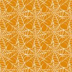 Anna Griffin - Esmerelda Collection - Halloween - 12 x 12 Paper - Orange Webbing