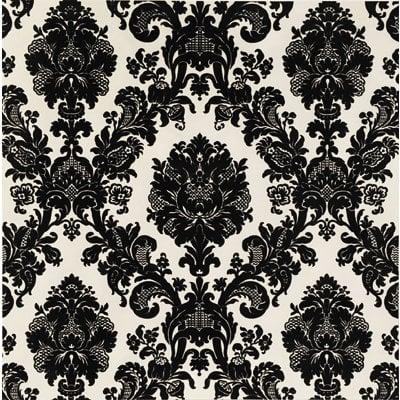 Anna Griffin - Esmerelda Collection - Halloween - 12 x 12 Flocked Paper - Black Flourish