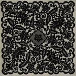 Anna Griffin - Esmerelda Collection - Halloween - 12 x 12 Flocked Paper - Lace