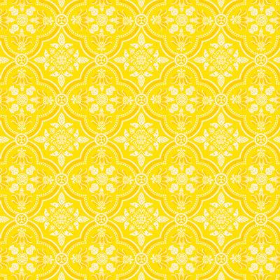 Anna Griffin - Carmen Collection - 12 x 12 Paper - Yellow Quatrefoil