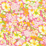 Anna Griffin - Carmen Collection - 12 x 12 Glittered Paper - Floral Pink