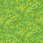 Anna Griffin - Carmen Collection - 12 x 12 Paper - Green Rose Tonal