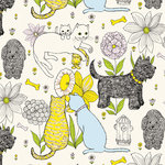Anna Griffin - Fifi and Fido Collection - 12 x 12 Paper - Cats and Dogs