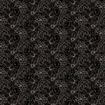 Anna Griffin - Fifi and Fido Collection - 12 x 12 Paper - Black Flowers