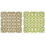Anna Griffin - 12 x 12 Designer Die Cut Paper Pack - Green and Gold