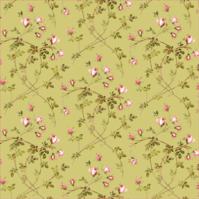 Anna Griffin - Francesca Collection - 12 x 12 Paper - Toss Rose - Green