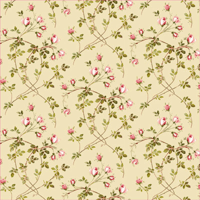 Anna Griffin - Francesca Collection - 12 x 12 Paper - Toss Rose - Cream
