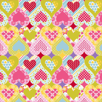 Anna Griffin - Lizzie Collection - 12 x 12 Paper - Multi Hearts