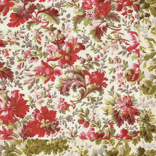Anna Griffin - Fleur Rouge Collection - 12 x 12 Double Sided Paper - Red