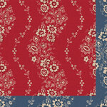 Anna Griffin - Fleur Rouge Collection - 12 x 12 Double Sided Paper - Espalier Rouge