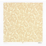 Anna Griffin - Fleur Rouge Collection - 12 x 12 Embossed Paper - Beige Floral