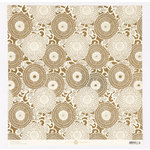 Anna Griffin - Honoka Collection - 12 x 12 Foiled Paper - Ivory Circles